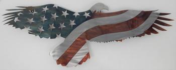 "24"" Rustic Patina Patriotic Eagle"