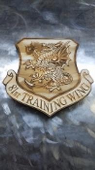 """7"""" Wood 81st Training Wing Logo"""