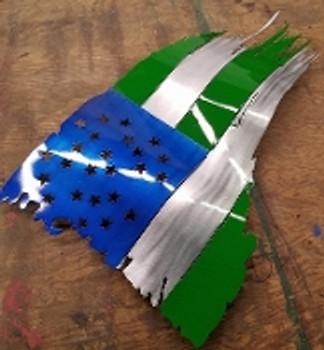 "NYPD Battle Worn Flag 24""x14"""