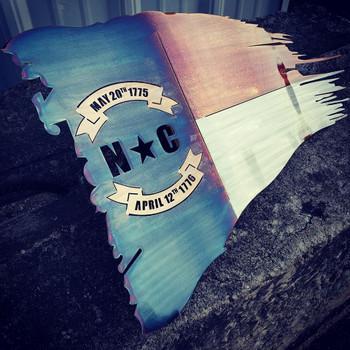 "North Carolina Battle Worn Flag 36""x 21"""