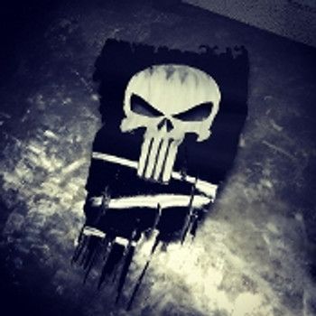 "Punisher Battle Worn flag 24"" x 14"""