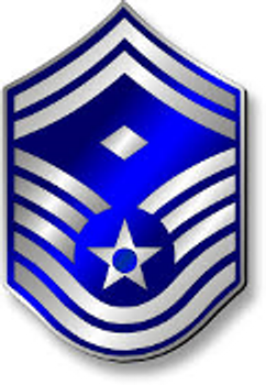 "Senior Master Sergeant 24"" x 14"" Patina Battle Worn Flag"