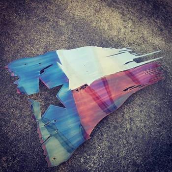 "36"" x 21"" Patina Texas Battle Worn Flag"