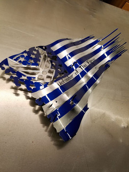 "USAF 24"" X 14"" Painted Battle Worn Flag"