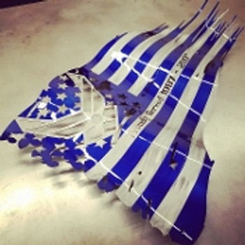 "USAF 36"" X 21"" Painted Battle Worn Flag"
