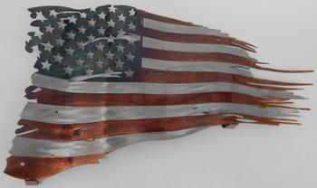 """15"""" x 9"""" Battle Worn Flag"""