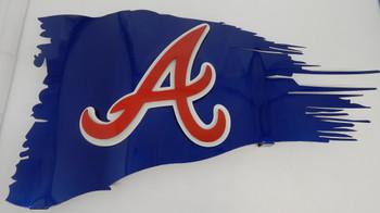 "24"" x 14"" Atlanta Battle Worn Flag"