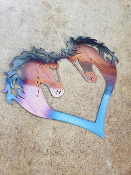 """Beautiful Disaster"" Horse heart."