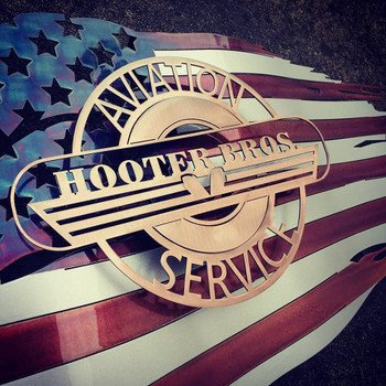 Hooters Bros. Battle worn Flag
