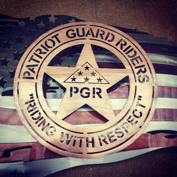 "24"" x 14"" Patina PGR Battle Worn Flag"