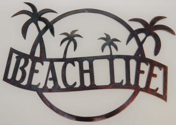 """Beach Life"" Sign (beautiful disaster finish)"
