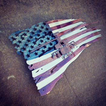 "24"" x 14"" Apache Patina Battle Worn Flag"