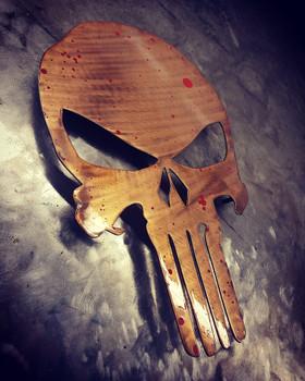 "Rustic Punisher 12"" x 8"""