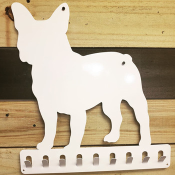 French Bulldog Leash/collar holder.