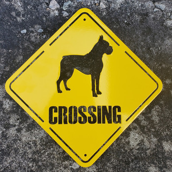 Boxer crossing sign
