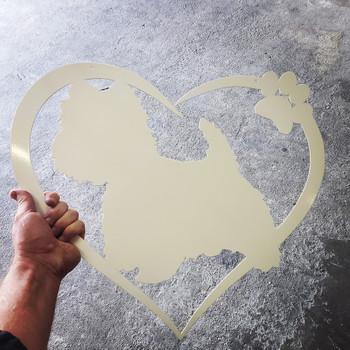 Heart with Westie