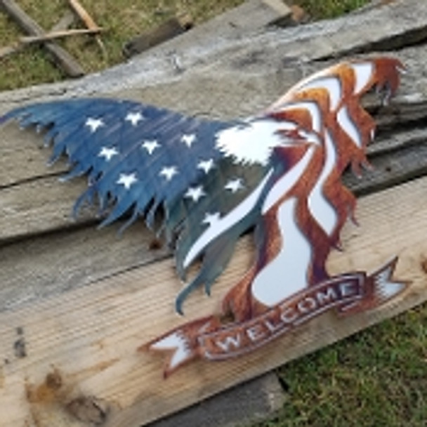 "15"" Eagle Welcome Sign"