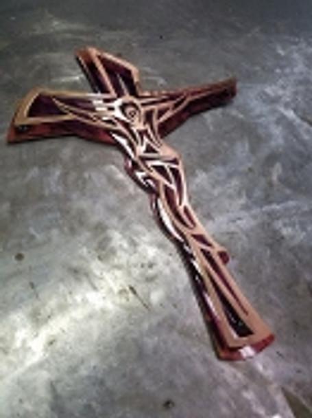 3D Crucifix Purple