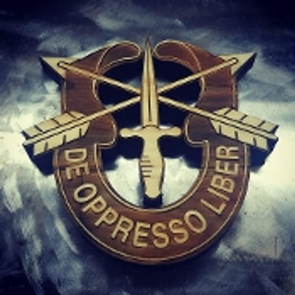 "7"" Wood Special Forces Crest"
