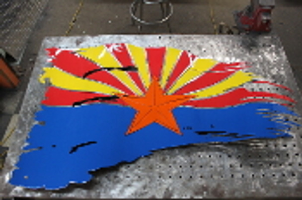 "Arizona Battle Worn Flag 46""x27"""