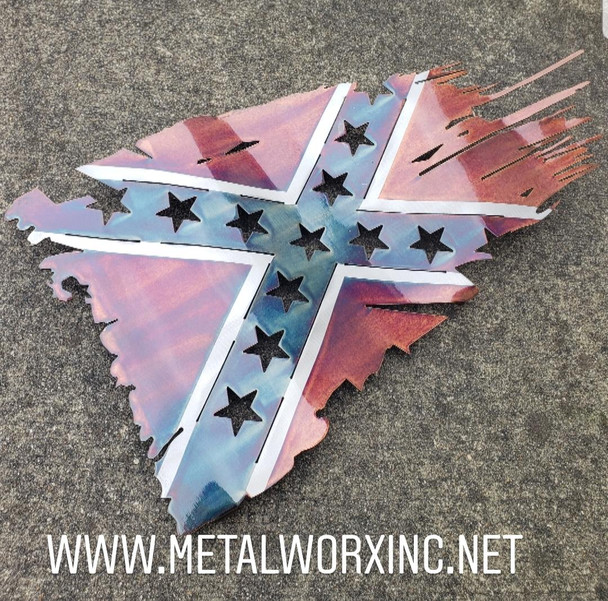 "24' x 14"" Confederate Battle Worn Flag"