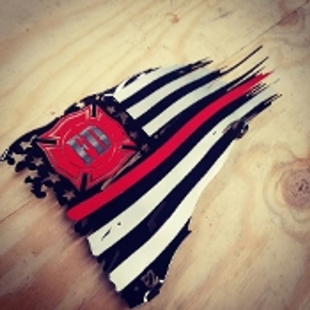 "FD Subdued 36"" x 21"" Battle Worn Flag"