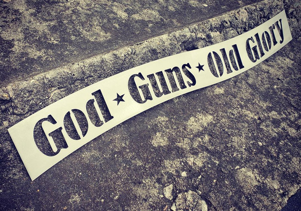 God * Guns * Old Glory Sign
