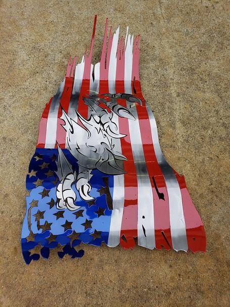 "24"" x 14"" Bald Eagle Battle Worn Flag"