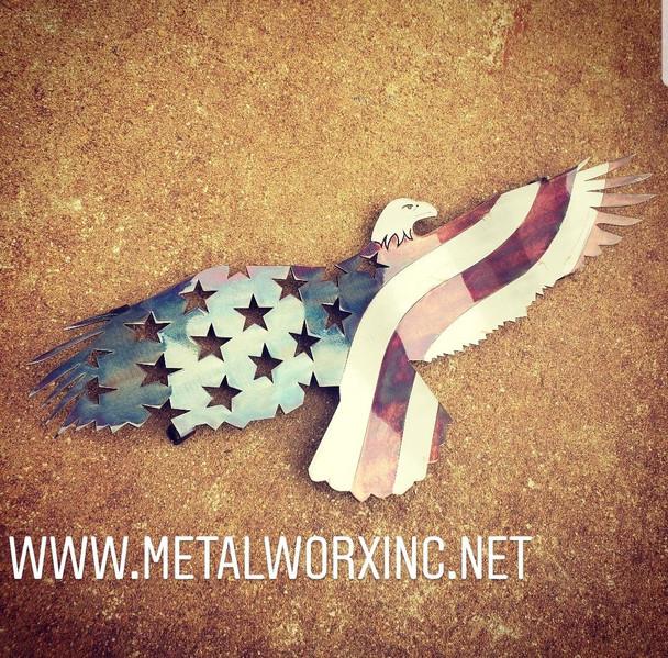 Mini Patina Patriotic Bald Eagle