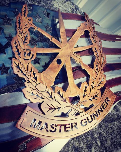 "24""  x 14"" Patina Master Gunner Battle Worn Flag"