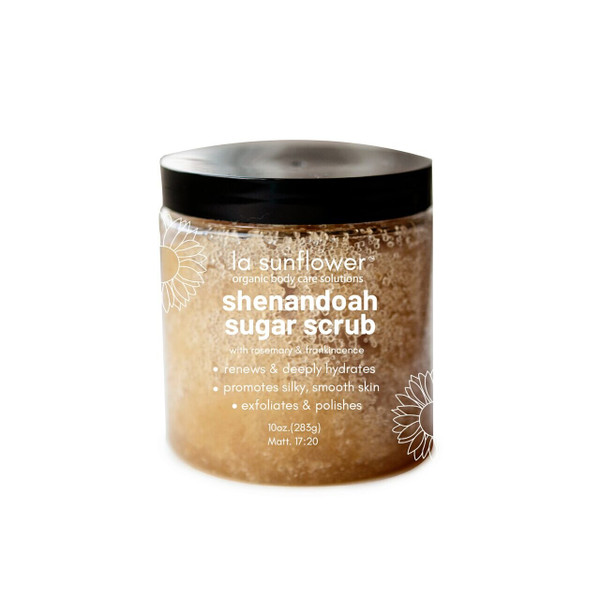 Shenandoah Sugar Scrub With Rosemary & Frankincense: Ultimate Herbal Body Exfoliation