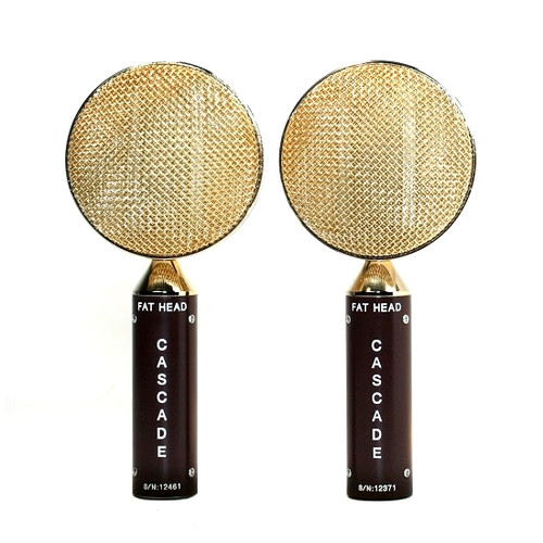 Cascade FAT HEAD Stereo Pair Brown / Gold Front