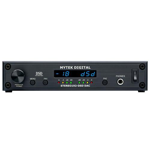 Mytek Stereo192-DSD DAC Black Mastering Front at ZenProAudio.com