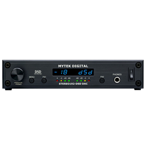 Mytek Stereo192-DSD DAC Black Preamp Front at ZenProAudio.com