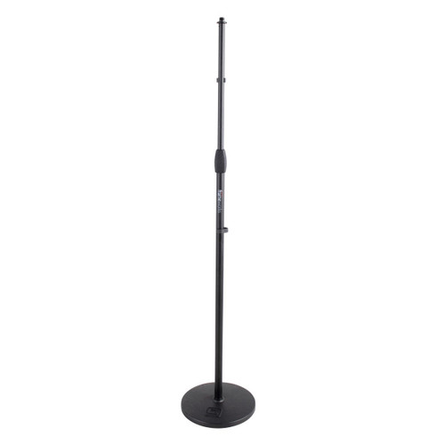 Gator Frameworks Microphone Round Base Stand Front at ZenProAudio.com