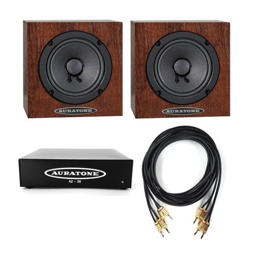 Auratone 5C Mahogany Pair with A2-30 Amp Bundle