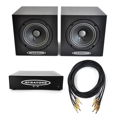 Auratone 5C Black Pair with A2-30 Amp Bundle