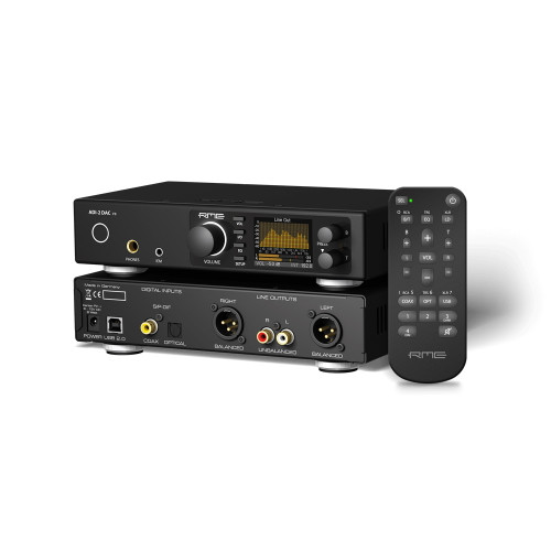 RME ADI-2 DAC FS Front and Rear with Remote Control