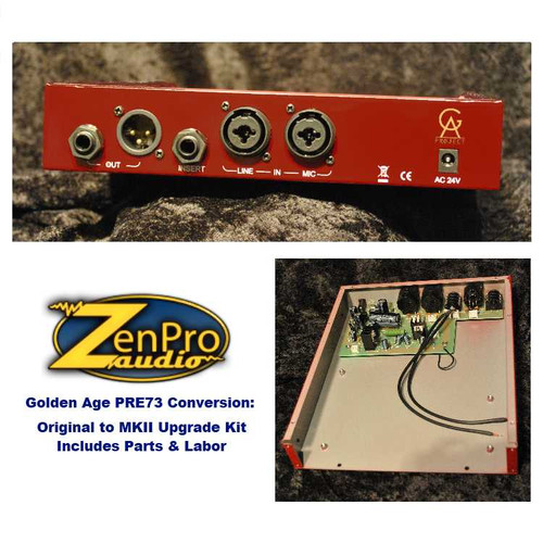 Golden Age Project PRE73 Conversion to MKII Mail in Mod Details at ZenProAudio.com