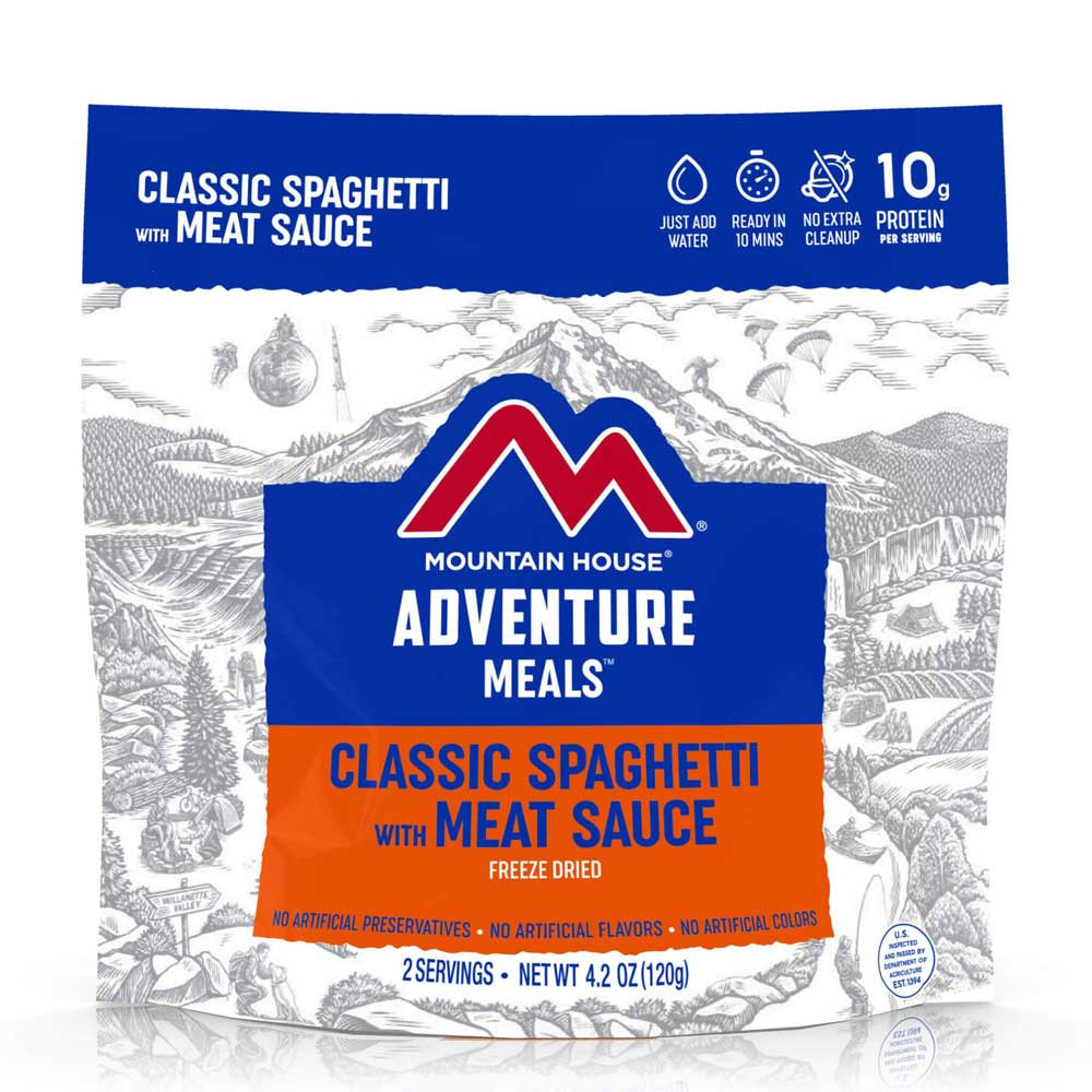 Mountain House Spaghetti with Meat Sauce (Case of 6 Pouches)