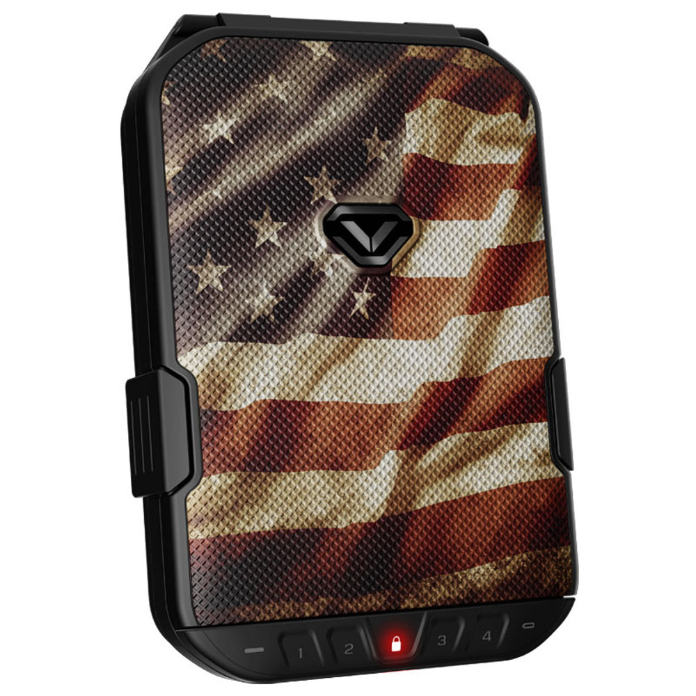 VAULTEK LifePod Weather Resistant Lockable Storage Case - American Flag (Special Edition)