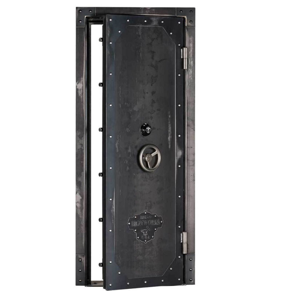 "Rhino Ironworks Out-Swing Vault Door 80""H x 45""W x 8.25""D"