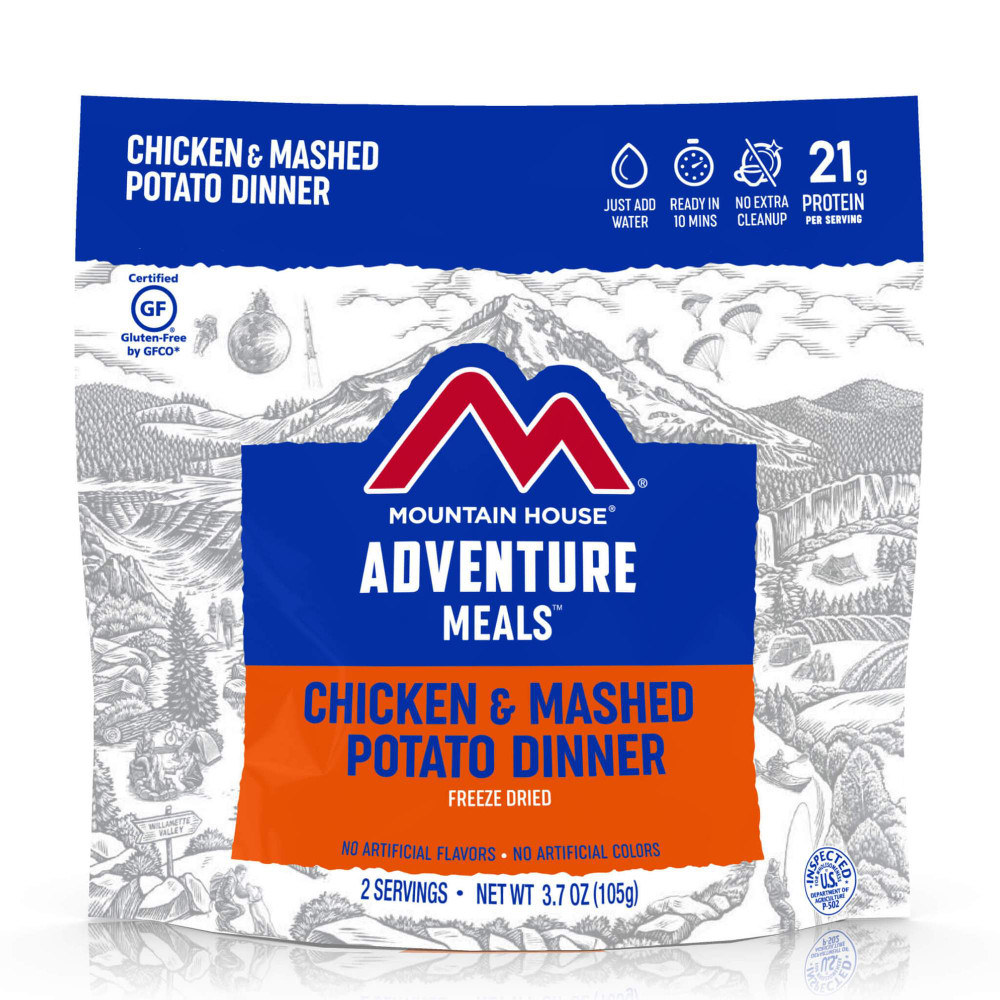 Mountain House Chicken Chicken & Mashed Potato Dinner (Case of 6 Pouches) Clean Label