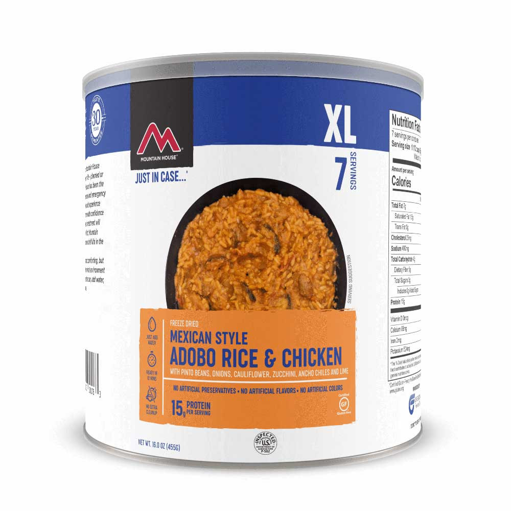 Mountain House Mexican Adobo Rice with Chicken #10 Can (Case of 6)