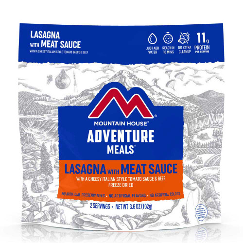 Mountain House Lasagna with Meat Sauce (Case of 6 Pouches)