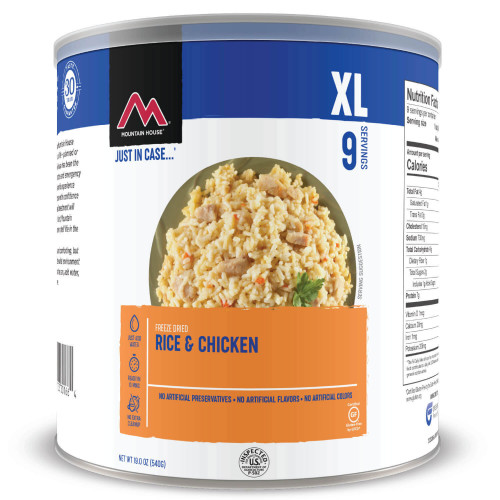 Mountain House Rice & Chicken #10 Can (Case of 6)