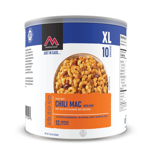 Mountain House Chili Mac with Beef XL #10 Can (Case of 6)