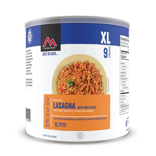 Mountain House Lasagna with Meat Sauce XL #10 Can (Case of 6)