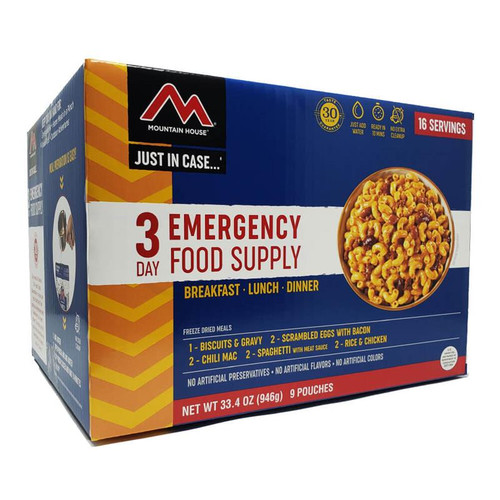 Mountain House Just in Case 3-Day Emergency Food Kit