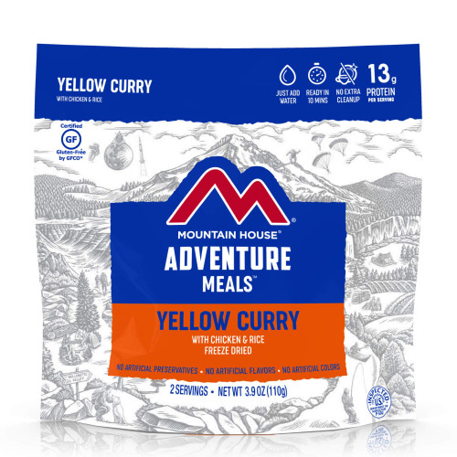 Mountain House Yellow Curry with Chicken & Rice (Case of 6 Pouches)